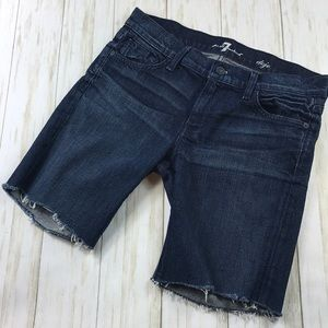 7 For All Mankind Dojo Cutoffs Jean Shorts